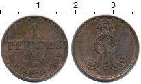 Изображение Монеты Ганновер 1 пфенниг 1863 Медь XF