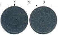 Изображение Монеты Третий Рейх 5 пфеннигов 1942 Цинк XF