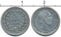 Изображение Монеты Нидерланды 5 центов 1876 Серебро XF