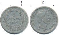 Изображение Монеты Нидерланды 5 центов 1850 Серебро VF