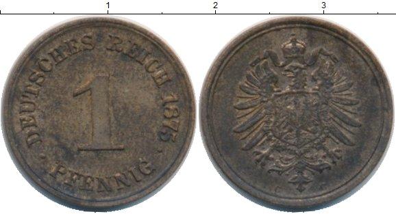 Картинка Монеты Германия 1 пфенниг Медь 1875