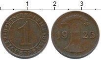 Изображение Монеты Веймарская республика 1 пфенниг 1925 Бронза XF D