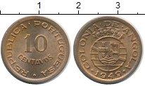 Изображение Монеты Ангола 10 сентаво 1949 Бронза UNC-