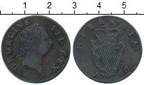 Изображение Монеты Ирландия 1/2 пенни 1766 Медь XF Георг III