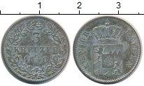 Изображение Монеты Бавария 3 крейцера 1840 Серебро XF-