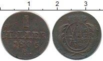 Изображение Монеты Саксония 1 геллер 1805 Медь XF-