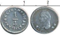 Изображение Монеты Мексика 1/4 реала 1843 Серебро XF- Чиуауа