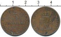 Изображение Монеты Парма 3 сентесим 1830 Медь VF