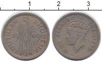 Изображение Монеты Родезия 3 пенса 1949 Медно-никель XF