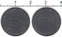 Изображение Монеты Третий Рейх 5 пфеннигов 1940 Цинк UNC- А
