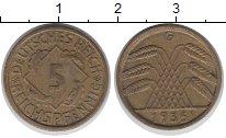 Изображение Монеты Веймарская республика 5 пфеннигов 1935 Латунь XF