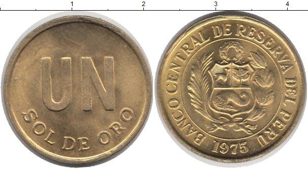 Картинка Монеты Перу 1 соль Латунь 1975