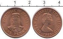 Изображение Монеты Остров Джерси 1 пенни 1985 Бронза UNC