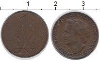 Изображение Монеты Нидерланды 1 цент 1948 Бронза XF