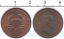 Изображение Монеты Великобритания Гернси 1 пенни 1985 Бронза UNC-