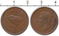 Изображение Монеты Великобритания 1 фартинг 1942 Бронза XF+