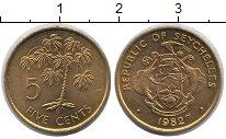 Изображение Монеты Сейшелы 5 центов 1982 Латунь UNC