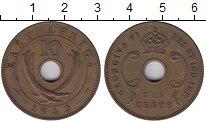 Изображение Монеты Великобритания Восточная Африка 10 центов 1942 Бронза XF