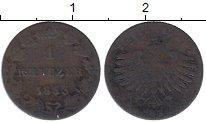 Изображение Монеты Франкфурт 1 крейцер 1853 Серебро VF