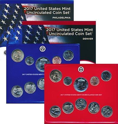 Изображение Подарочные монеты США Набор 2017 года 2017  UNC