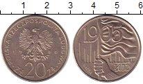 Изображение Монеты Польша 20 злотых 1980 Медно-никель XF Лодзь   ПРОБА