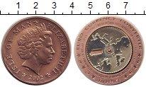 Изображение Монеты Остров Мэн 60 пенсов 2002 Медь UNC