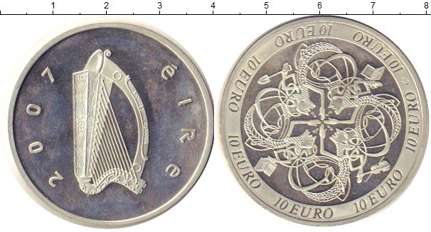 Картинка Монеты Ирландия 10 евро Серебро 2007
