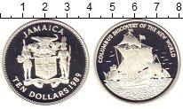 Изображение Монеты Ямайка 10 долларов 1989 Серебро Proof