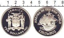 Изображение Монеты Ямайка 10 долларов 1991 Серебро Proof