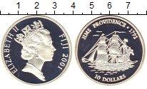 Изображение Монеты Фиджи 10 долларов 2001 Серебро Proof