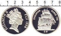 Изображение Монеты Фиджи 10 долларов 1998 Серебро Proof