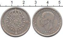Изображение Монеты Швеция 1 крона 1948 Серебро VF