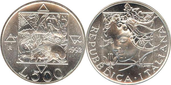 Картинка Подарочные наборы Италия Флора и фауна Италии Серебро 1992