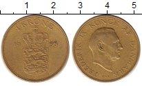 Изображение Монеты Дания 1 крона 1956 Латунь XF