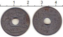 Изображение Монеты Тунис 10 сантим 1941 Цинк XF-
