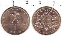 Изображение Монеты Латвия 1 лат 2004 Медно-никель UNC Латвия - в  ЕС