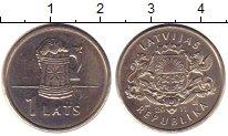 Изображение Монеты Латвия 1 лат 2011 Медно-никель UNC Пивная  кружка