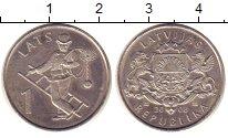 Изображение Монеты Латвия 1 лат 2008 Медно-никель UNC Трубочист