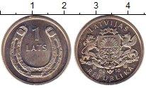 Изображение Монеты Латвия 1 лат 2010 Медно-никель UNC