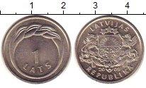 Изображение Монеты Латвия 1 лат 2009 Медно-никель UNC Герб