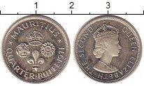 Изображение Монеты Маврикий 1/4 рупии 1971 Медно-никель Proof-
