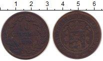 Изображение Монеты Люксембург 10 сантим 1870 Медь XF-
