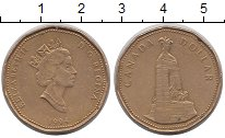 Изображение Монеты Канада 1 доллар 1994 Латунь XF Елизавета II.  Военн