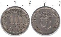 Изображение Монеты Малайя 10 центов 1950 Медно-никель UNC-