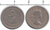 Изображение Монеты Великобритания Родезия 3 пенса 1957 Медно-никель XF