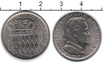 Изображение Монеты Монако 1 франк 1977 Медно-никель UNC Князь  Монако  Ренье