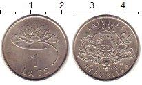 Изображение Монеты Латвия 1 лат 2008 Медно-никель UNC
