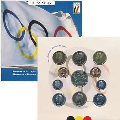 Изображение Подарочные монеты Бельгия Набор 1996 года 1996  UNC В набор входят десят