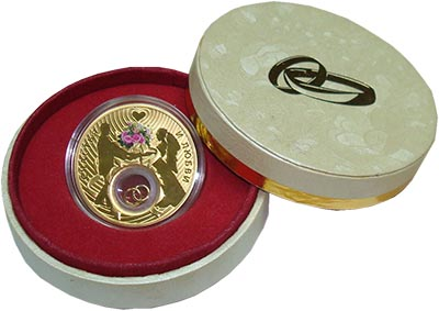 Изображение Подарочные монеты Ниуэ Свадебная монета 2013 Серебро Proof Монета номиналом 2 д