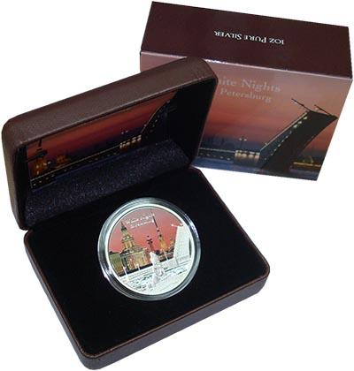 Изображение Подарочные монеты Новая Зеландия Ниуэ Белые ночи Санкт-Петербурга 2013 Серебро Proof